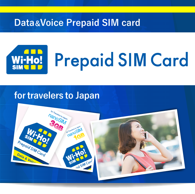Wi-Ho! Prepaid SIM for Traveler to Japan by Telecom Square