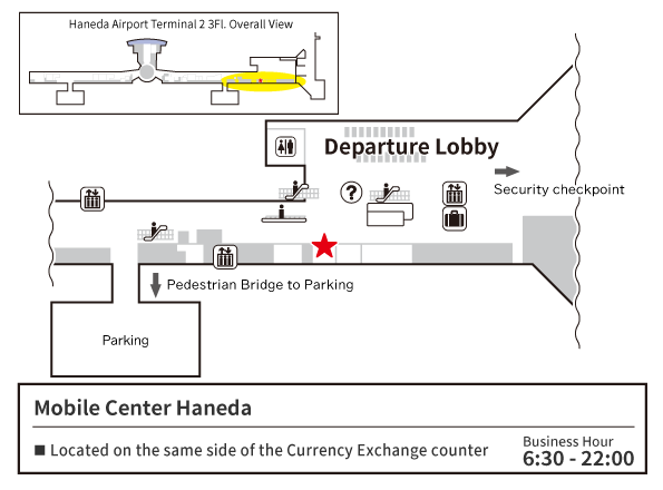 MOBILE CENTER Haneda Map