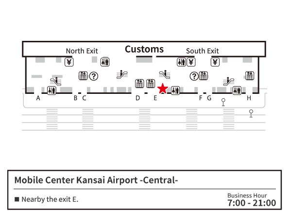 MOBILE CENTER Knsai Center Map