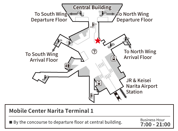 MOBILE CENTER Narita 1 Map