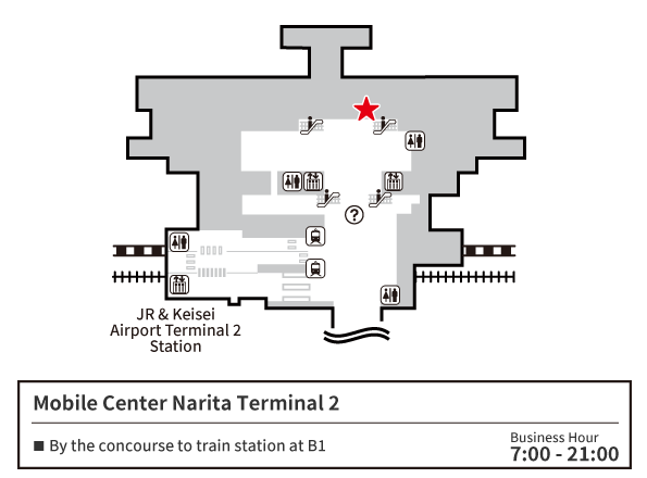 MOBILE CENTER Narita 2 Map