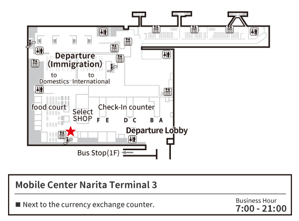 MOBILE CENTER Narita 3 Map